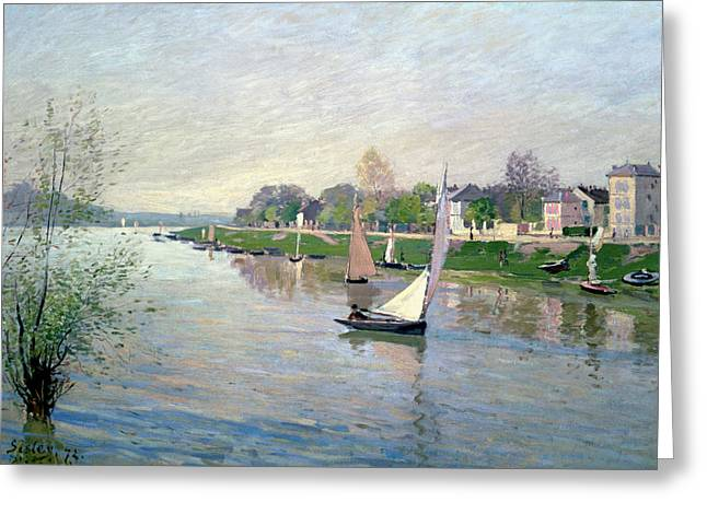 Besides Greeting Cards - The Seine at Argenteuil Greeting Card by Alfred Sisley