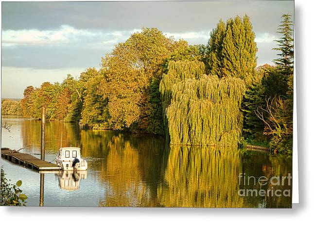 Ile De France Greeting Cards - The Seine at Bonnieres Greeting Card by Olivier Le Queinec