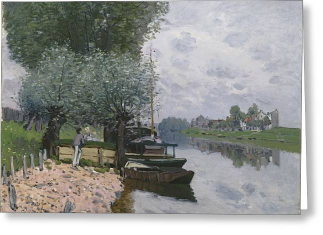 Seine Greeting Cards - The Seine At Bougival, 1872 Greeting Card by Alfred Sisley