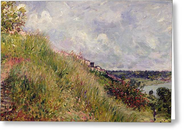 Impressionist Greeting Cards - The Seine, View Of The Slopes Of By, 1881 Oil On Canvas Greeting Card by Alfred Sisley