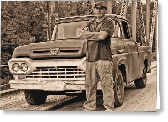Country Dirt Roads Greeting Cards - The Selfie Greeting Card by JC Findley