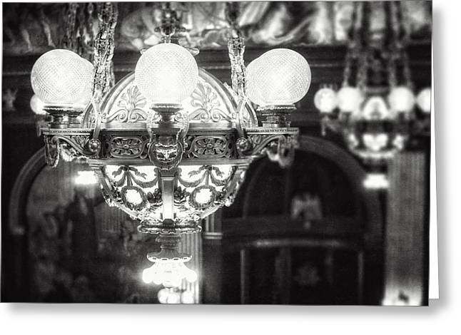 French Renaissance Greeting Cards - The Senate Chandelier II  Greeting Card by Lisa Russo