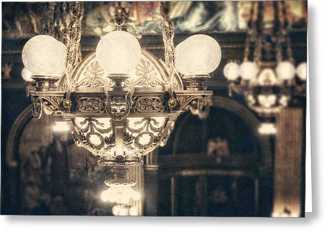 French Renaissance Greeting Cards - The Senate Chandeliers  Greeting Card by Lisa Russo