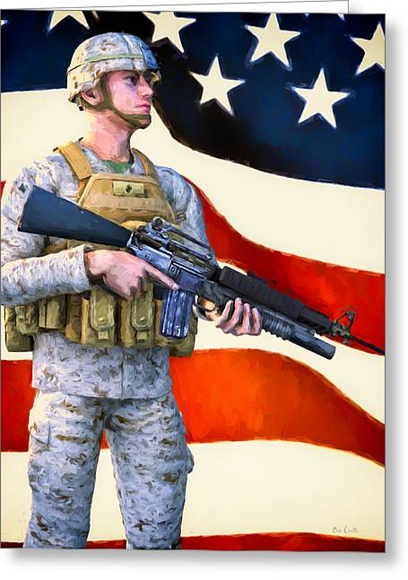 Veterans Day Greeting Cards - The Sentry Greeting Card by Bob Orsillo