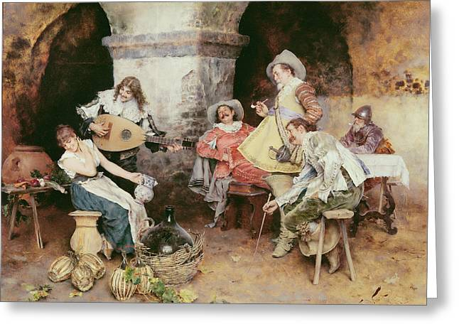 The Serenade Greeting Card by Francesco Vinea