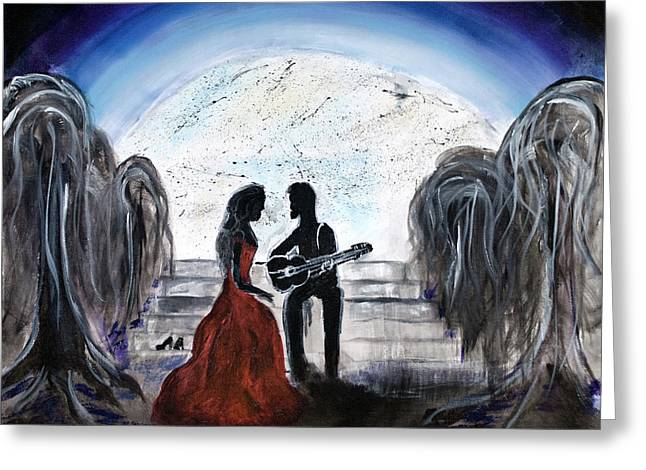 Abstract Realist Landscape Greeting Cards - The Serenade  Greeting Card by Katy  Scott