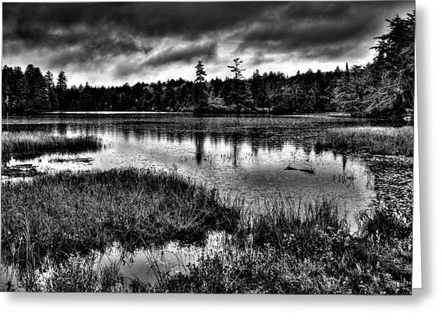 Hdr Landscape Greeting Cards - The Serene Raquette Lake Greeting Card by David Patterson