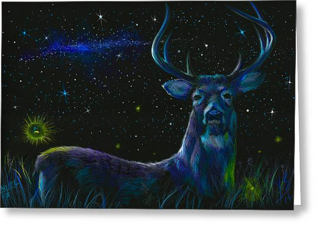National Parks Mixed Media Greeting Cards - The serenity of the night  Greeting Card by Yusniel Santos
