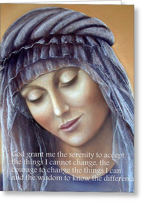 Faith Pastels Greeting Cards - The Serenity Prayer Greeting Card by Rosemary Colyer