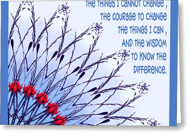 The Serenity Prayer 6 Greeting Card by Wendy Wilton