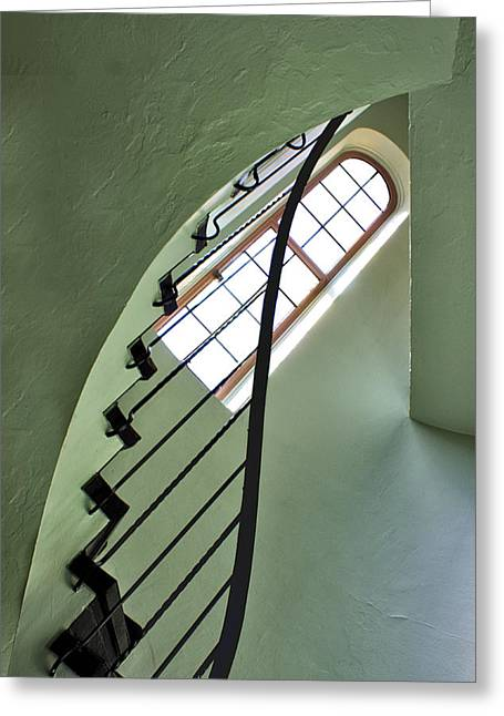 Spiral Staircase Greeting Cards - The Servants Staircase Greeting Card by Nikolyn McDonald