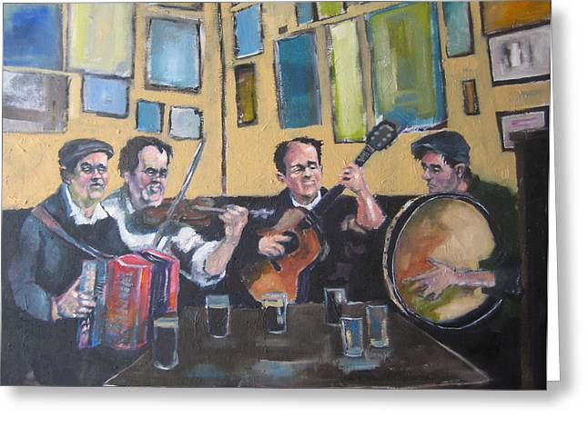 Irish Folk Music Greeting Cards - The Session Greeting Card by Kevin McKrell