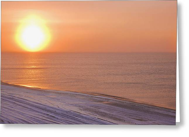 Reflections Of Sun In Water Greeting Cards - The Setting Sun Shining Through Greeting Card by Kevin Smith