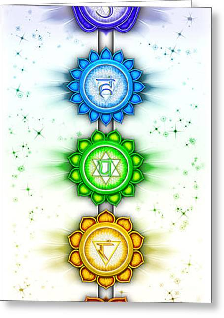 Vishuddha Greeting Cards - The Seven Chakras - Series V - Artwork II Greeting Card by Dirk Czarnota