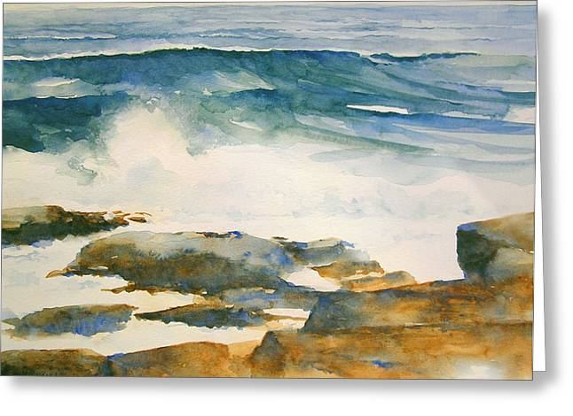The Seventh Wave Greeting Card by William Beaupre