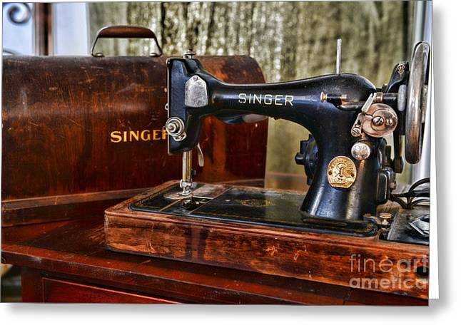 Sewing Hobby Greeting Cards - The Sewing Machine Greeting Card by Paul Ward