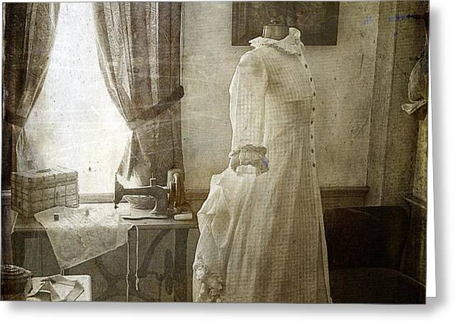 The Sewing Room Greeting Card by Cindi Ressler