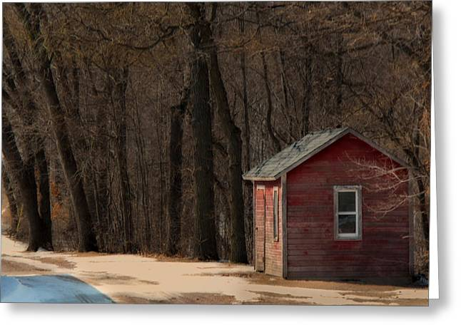 Outbuildings Greeting Cards - The Shack Greeting Card by Melinda Martin