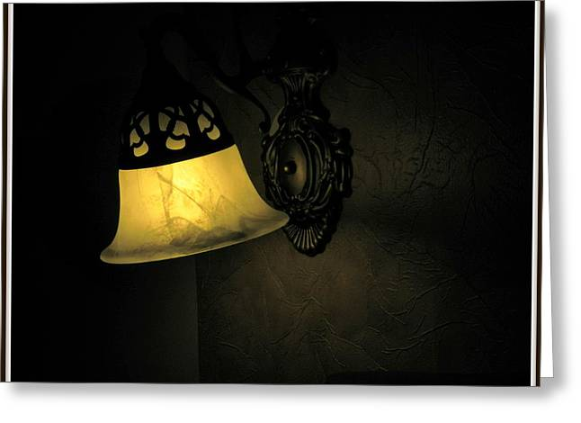 Night Lamp Ceramics Greeting Cards - The shadow Greeting Card by Utkarsh Maheshwari