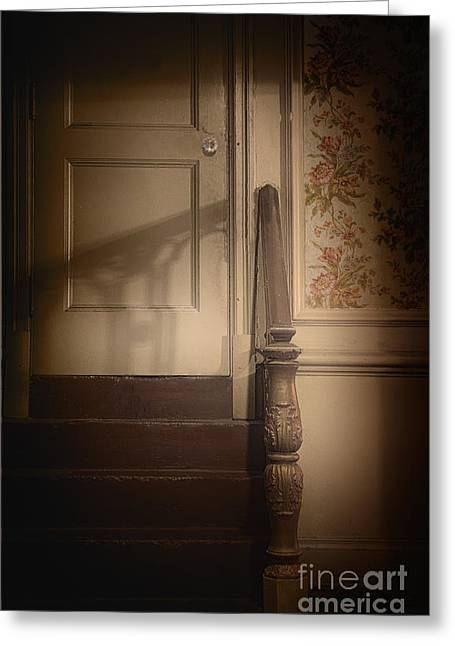 Stair-rail Greeting Cards - The Shadows of Yesteryear Greeting Card by Margie Hurwich