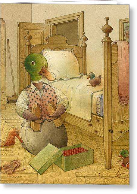 Bed Drawings Greeting Cards - The Shaky Knight 05 Greeting Card by Kestutis Kasparavicius
