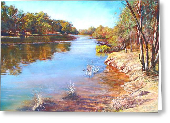 Australia Pastels Greeting Cards - The Shallows Greeting Card by Lynda Robinson