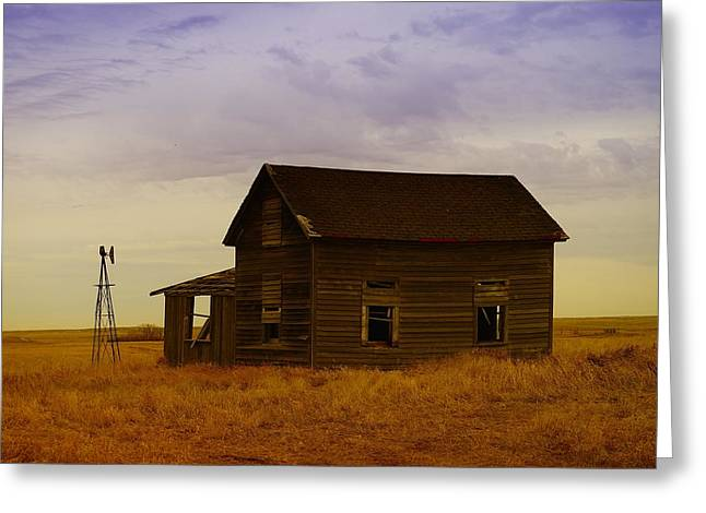 Old Relics Photographs Greeting Cards - The Shambles Of Dreams Gone By Greeting Card by Jeff  Swan