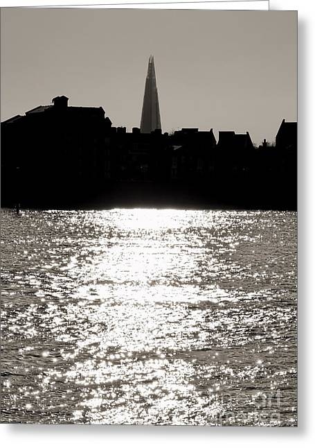 Shards Greeting Cards - The Shard from Canary Wharf Greeting Card by Jasna Buncic