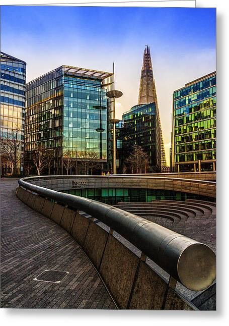 Shard Greeting Cards - The Shard London Greeting Card by Ian Hufton