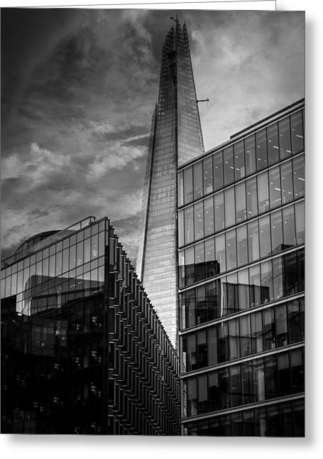 Streetphotography Greeting Cards - The Shard London Greeting Card by Martin Newman