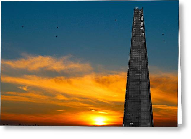 Shards Greeting Cards - The Shard Greeting Card by Martin Newman