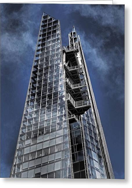 South Bank Greeting Cards - The Shards of The Shard Greeting Card by Rona Black
