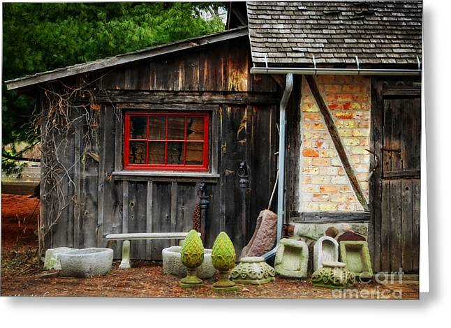 Shed Digital Greeting Cards - The Shed at Monches Farm Greeting Card by Mary Machare