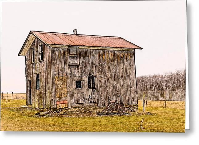 Shed Digital Art Greeting Cards - The Shed Greeting Card by David Simons