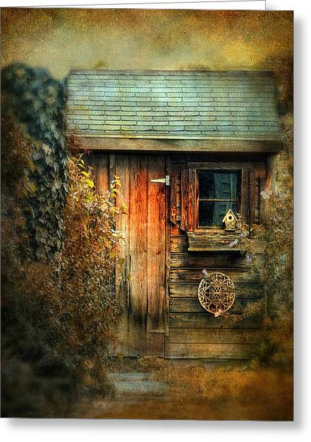 Old Relics Digital Greeting Cards - The Shed Greeting Card by Jessica Jenney