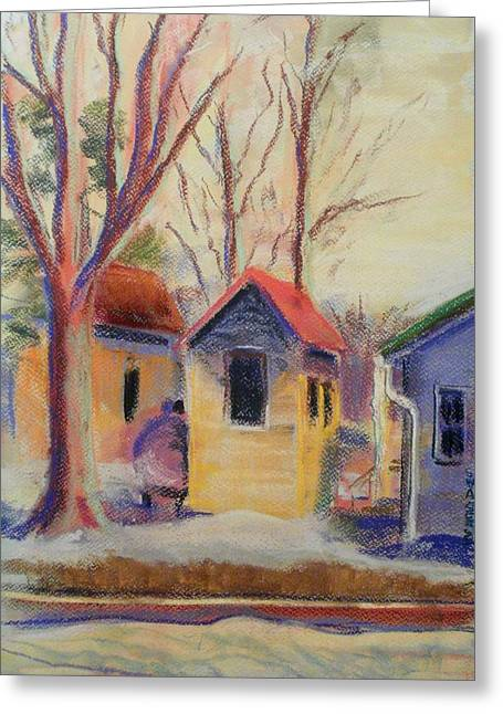 Sheds Pastels Greeting Cards - The Shed Greeting Card by Tim  Swagerle