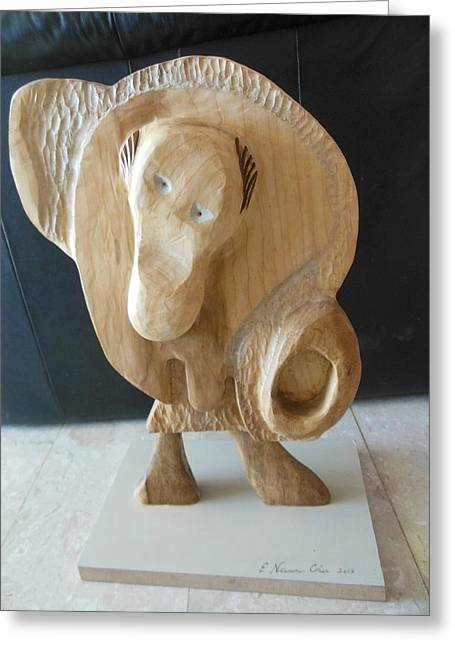 View Sculptures Greeting Cards - The Sheep Not Shorn Front View Greeting Card by Esther Newman-Cohen