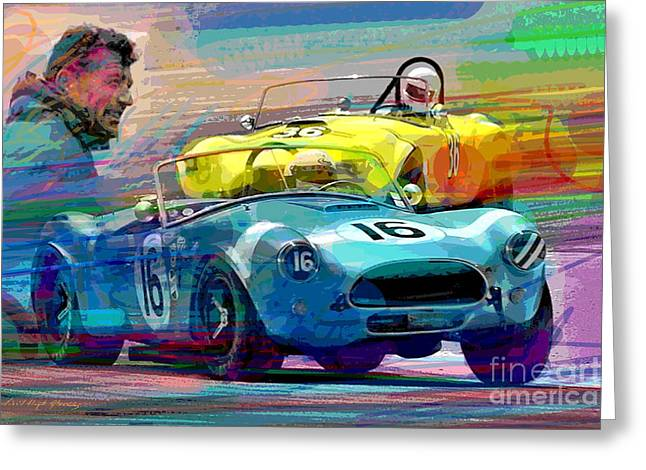 Auto Racing Greeting Cards - The Shelby Legacy Greeting Card by David Lloyd Glover