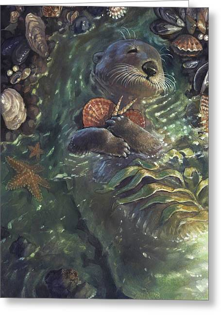 Kids Books Paintings Greeting Cards - The Shell Collector Greeting Card by Jaimie Whitbread