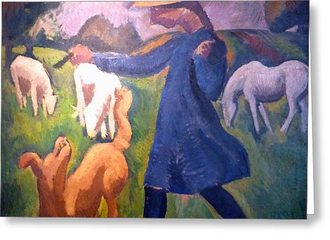 The Shepherdess Greeting Card by Roger de La Fresnaye