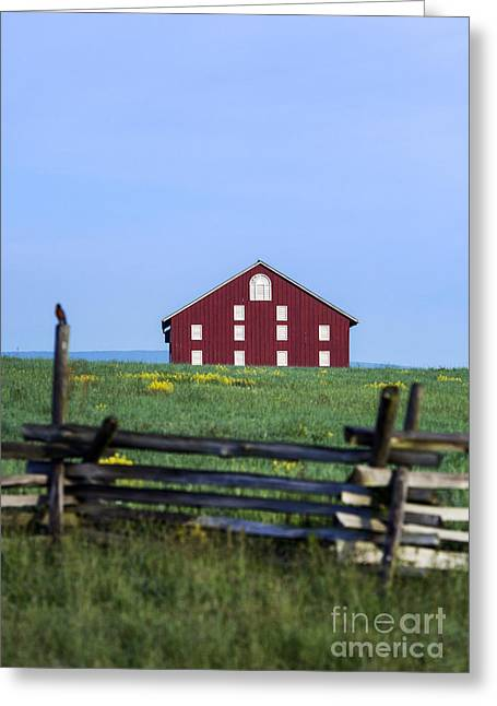 Confederate Monument Greeting Cards - The Sherfy Farm at Gettysburg Greeting Card by John Greim