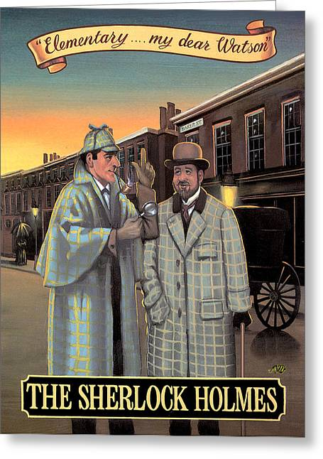 The Sherlock Holmes Greeting Card by Peter Green