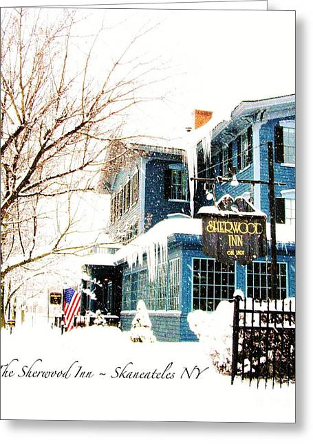 Skaneateles Greeting Cards - The Sherwood Inn Greeting Card by Margie Amberge