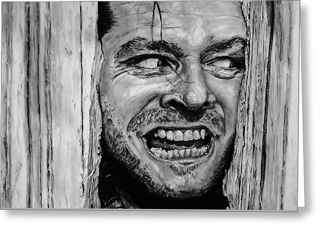 Psycho Drawings Greeting Cards - The Shining Drawing  Greeting Card by Tony Orcutt