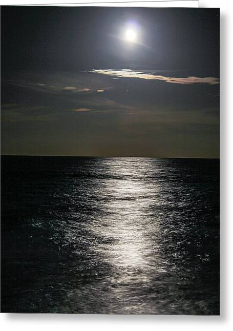 Moon Beach Greeting Cards - The Shining Greeting Card by Tyson Kinnison