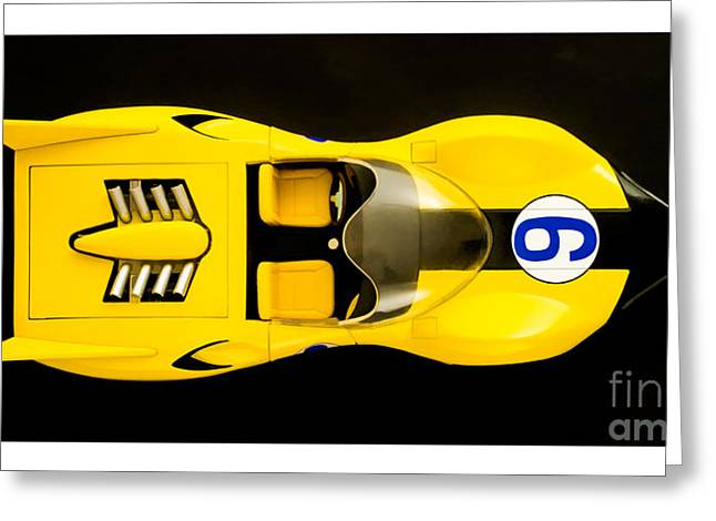 Shooting Stars Greeting Cards - The Shooting Star Racer Xs Number 9 Race Car Greeting Card by Edward Fielding