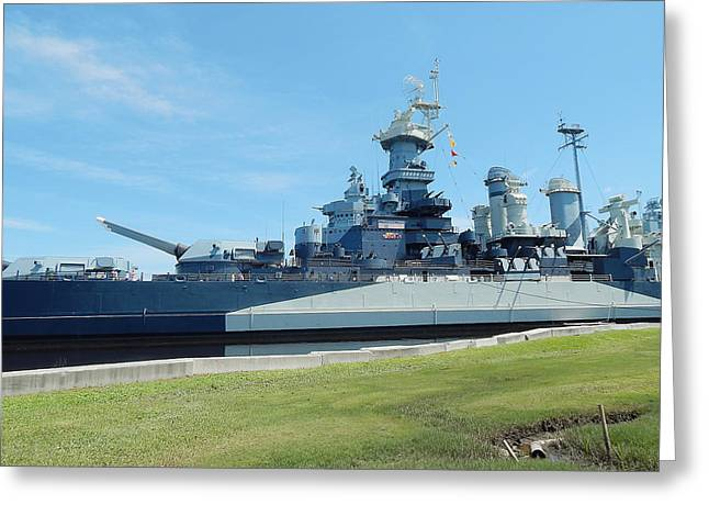 Uss North Carolina Greeting Cards - The Showboat Greeting Card by Michael Genova