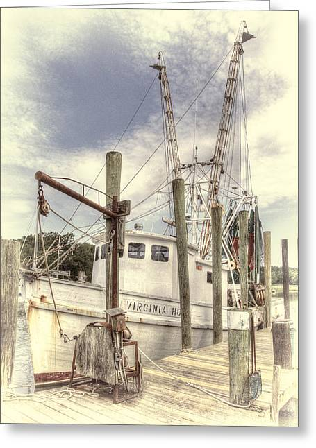 Shrimp Boat Captains Greeting Cards - The Shrimp Boat Virginia Greeting Card by Barry Monaco