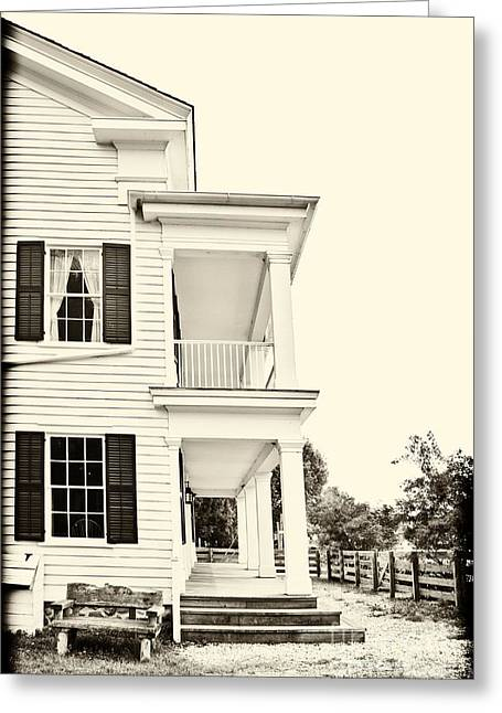 Side Porch Greeting Cards - The Side of the House Greeting Card by Margie Hurwich