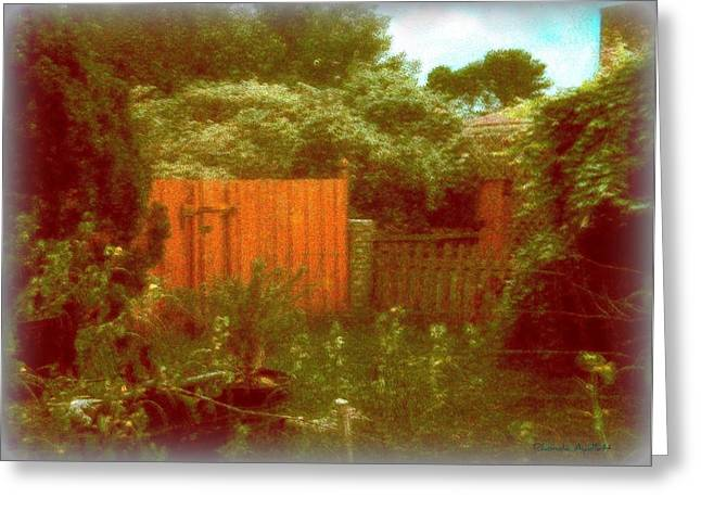 The Side Yard Greeting Card by YoMamaBird Rhonda